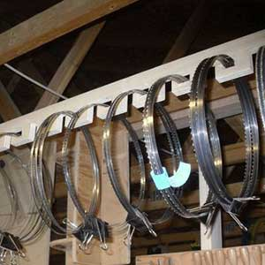 Storing Your Band Saw Blades Creatively